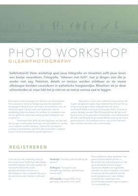 Lesmateriaal Workshop